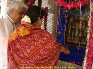 In an instant The Shaktis enter Their original sthan and give blessings.